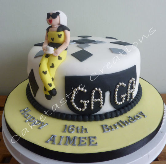 Lady Gaga Birthday Cake