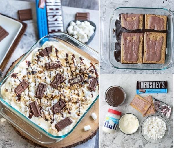 No Bake S'mores Icebox Cake