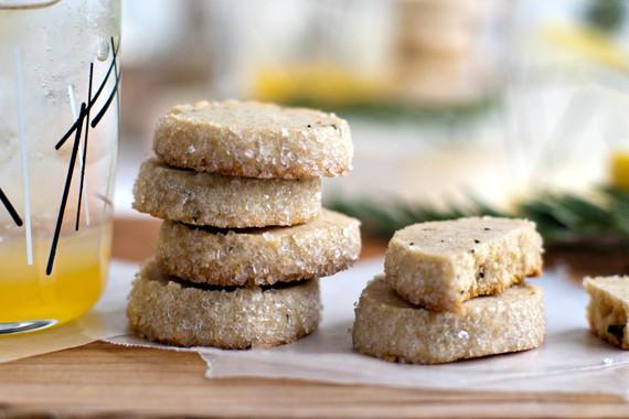Rosemary Lemon Shortbread Cookies