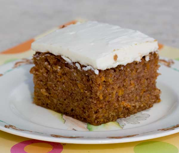Carrot Cake Baked In An 8x12 Inch Glass Dish