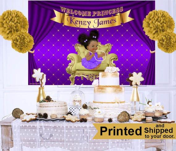 Incredible Royal Princess Baby Shower Theme Purple Ba Cake Table