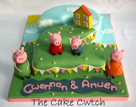 Peppa Pig Number 2 Cakes