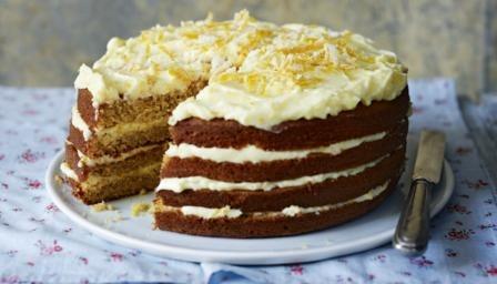 Spiced Whole Orange Cake With Orange Mascarpone Icing Recipe