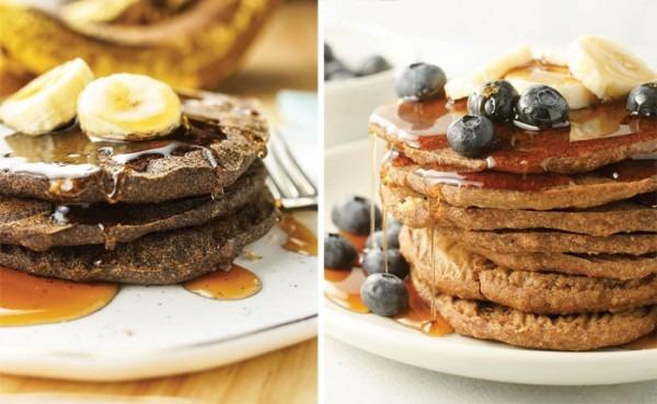 Vegan Baked Buckwheat Banana Pancakes