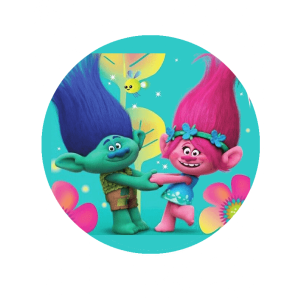 Characters   Trolls Poppy And Brnach Cake Topper
