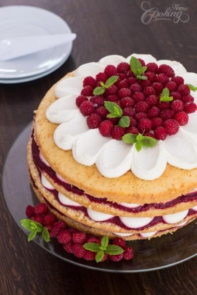 Raspberry Vanilla Cake    Home Cooking Adventure