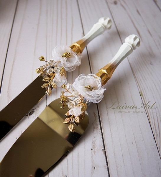 Wedding Cake Server Set & Knife Cake Cutting Set Wedding Cake