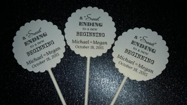 Wedding Engagement Cupcake Cake Toppers Sweet Ending To A New