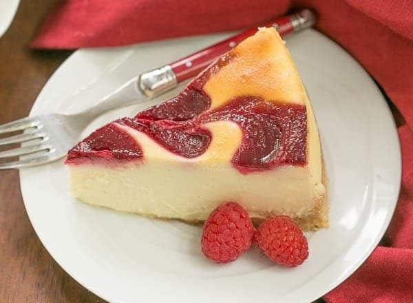 White Chocolate Raspberry Swirl Cheesecake Recipe