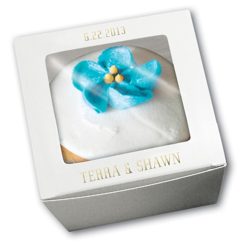Personalized Large White Cupcake Boxes