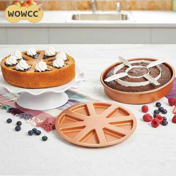 Wowcc 3pcs Set Cake Mold Copper Chef Perfect Cake Pan Magic Middle