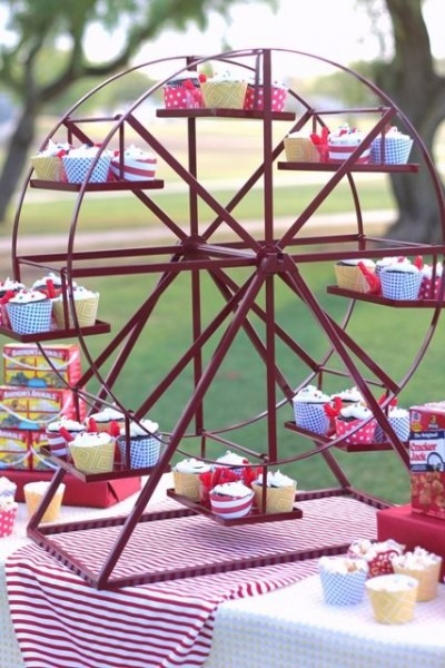 Ferris Wheel (revolving) Cupcake Stand