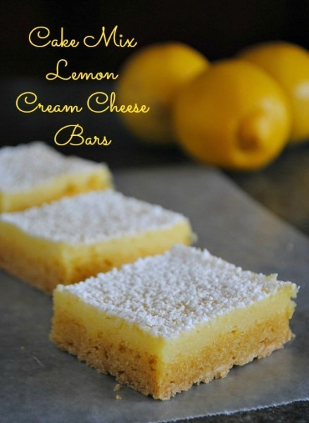 Squares Bars Cake Mix Lemon Squares