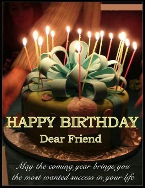 Happy Birthday Friend Cake