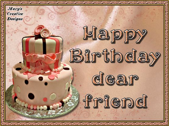 Birthday Cake Dear Friend Image Pictures, Photos, And Images For