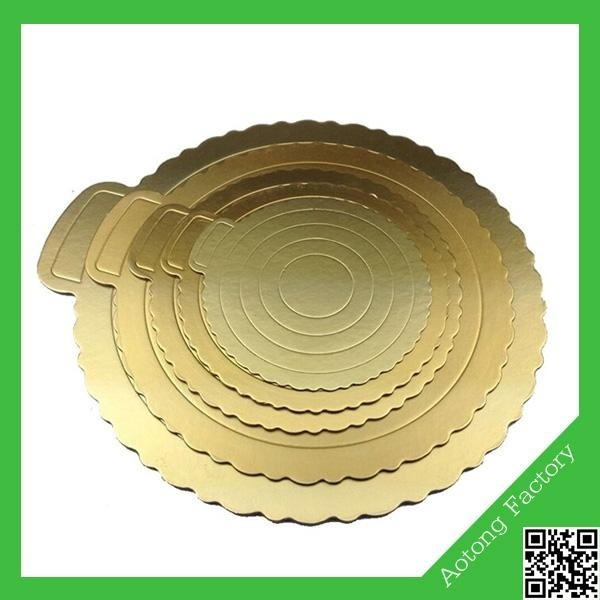 Round Gold Paper Cake Base Board