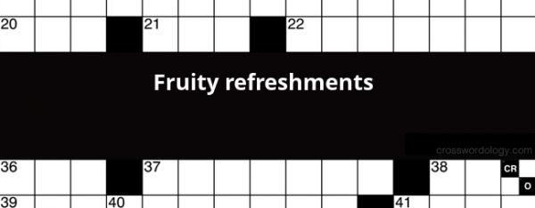 Fruity Refreshments Crossword Clue