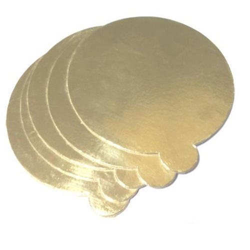 Gold Foil Round Cake Base Board With Tab At Rs 5  Piece
