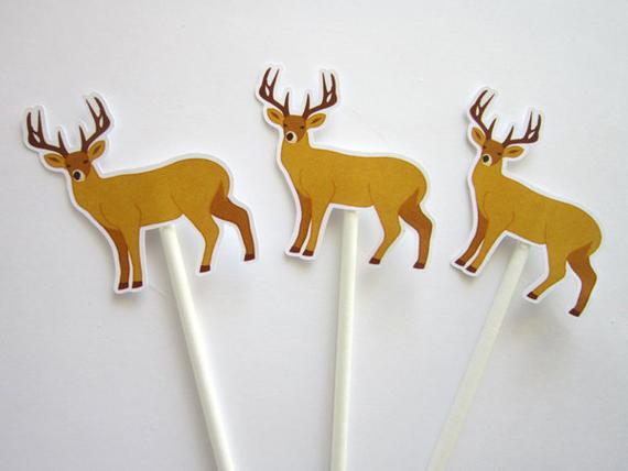 Hunting Birthday Party Cupcake Toppers