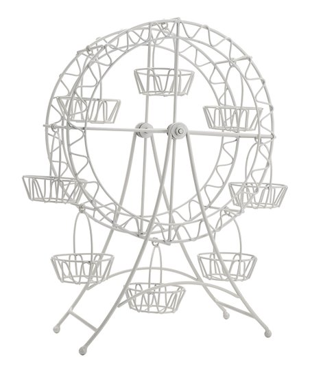 Home Essentials And Beyond White Ferris Wheel Cupcake Stand