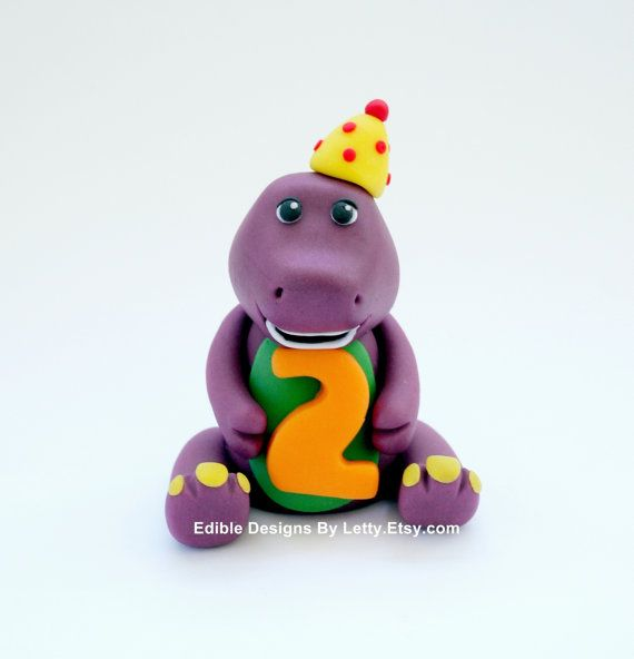 Fondant Barney Cake Topper By Edibledesignsbyletty On Etsy, $22 00