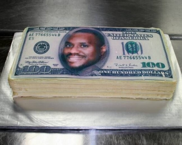 Fondant Cake 100 Dollars Bill
