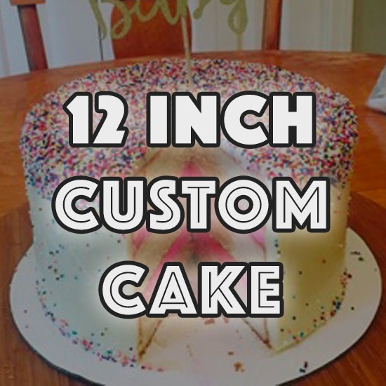 12 Inch Custom Round Cake – Baked Well