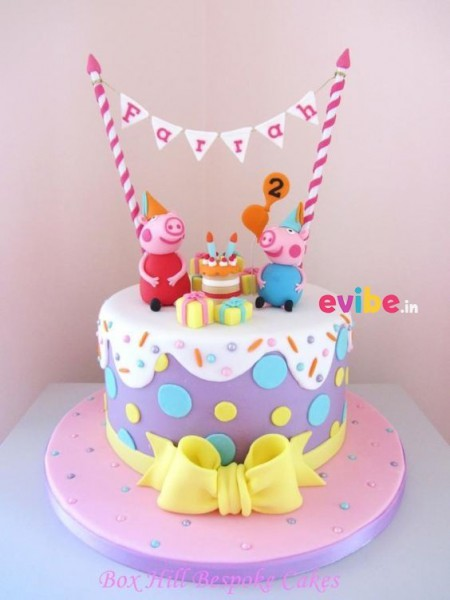 Order Superb Peppa Pig Theme Cake Online