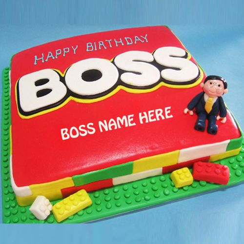 Write Name On Happy Birthday Boss Cake Picture