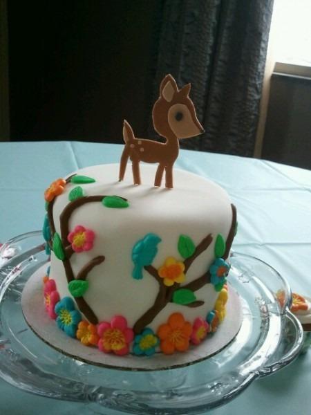 Baby Deer Cake Nature Baby Shower Theme My Nursery Theme  Minus