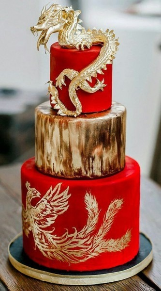 In Chinese Weddings, Often You'll See Dragons And Phoenix Symbols