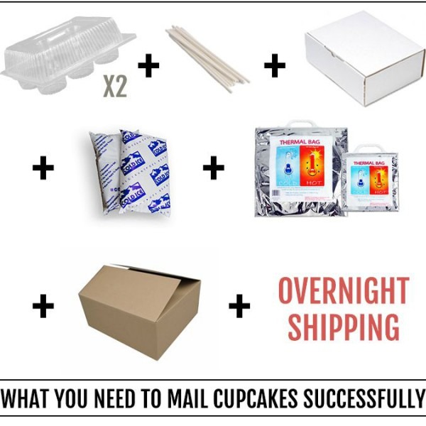 How To Send Frosted Cupcakes In The Mail