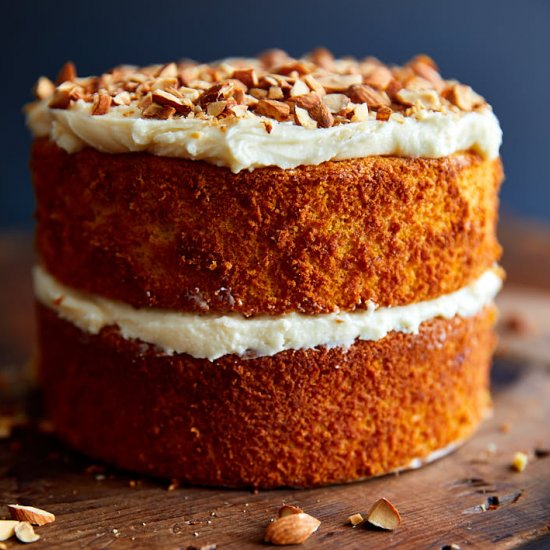 Very Moist Flourless Carrot Cake