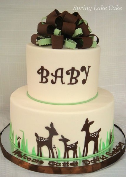 Willow Themed Baby Shower Cake