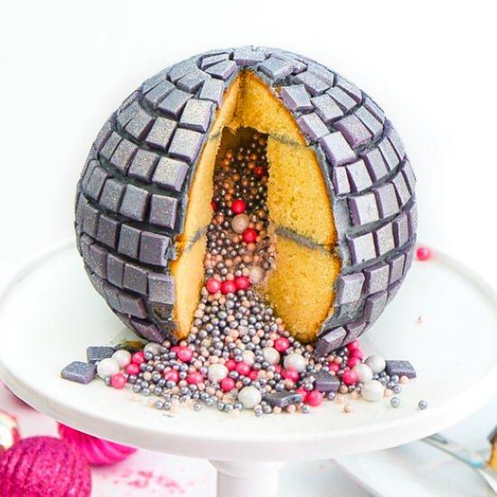 Diy Disco Ball Piñata Cake!
