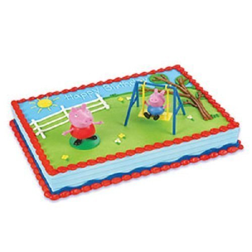 Amazon Com  Decopac Peppa Pig Swing Set Decoset Cake Decoration