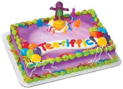 Amazon Com  Barney Celebration Cake Topper  Home & Kitchen
