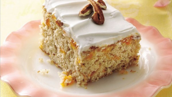 Butter Pecan Cake With Apricots Recipe