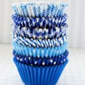 Blue Cupcake Liners