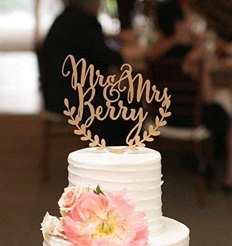 Amazon Com  Custom Wedding Cake Topper, Personalized Cake Topper