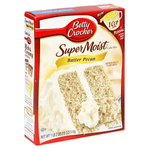 Amazon Com   Betty Crocker Super Moist Cake Mix, Butter Pecan