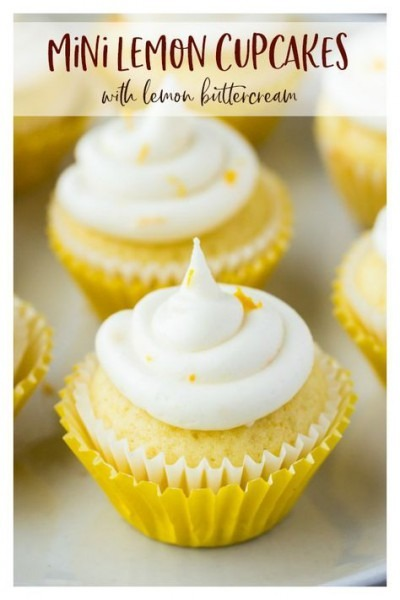 Mini Lemon Cupcakes With Lemon Buttercream
