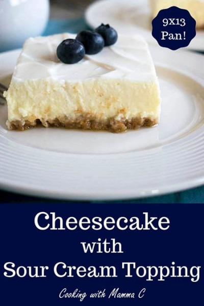 Mom's Cheesecake With Sour Cream Topping