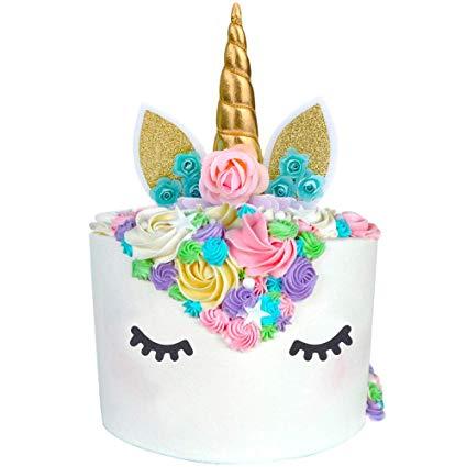 Amazon Com  Unicorn Cake Topper Unicorn Party Supplies Unicorn