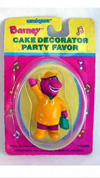 Amazon Com  Barney Cake Topper Party Favor Collectible Figure