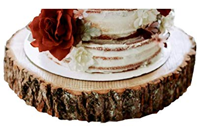 Amazon Com  16 Inch Wood Slice Cake Stand, Wood Slab 16 Inches