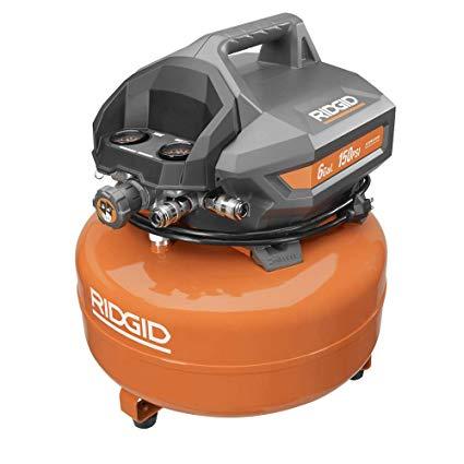 Ridgid Zrof60150ha 6 Gal  Portable Electric Pancake Compressor