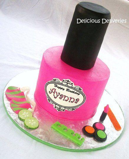 Nail Polish Spa Cake