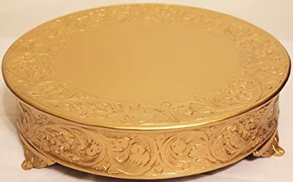 Amazon Com   Belmont 16 Inch Matte Gold Round Wedding Cake Stand