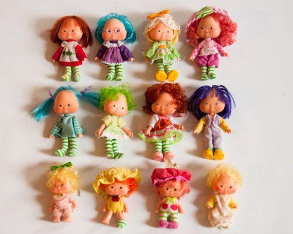 12 Vintage 1970s Strawberry Shortcake Dolls Instant Collection